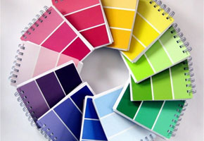 Colorful paint chip notebooks