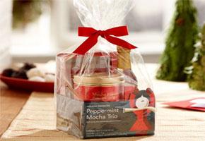 Peppermint mocha trio gift tin set