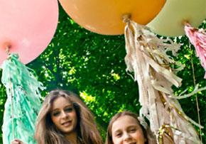 Pink Geronimo balloons