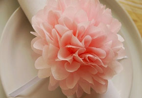 Pink flower made of paper