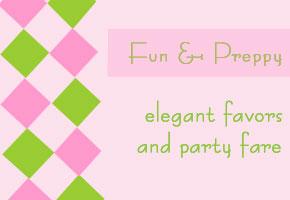 Preppy party favors