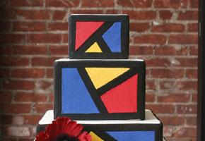 Color prism wedding cake