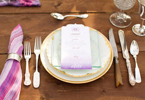 Formal wooden place setting