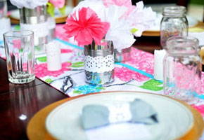 garden inspired table settings