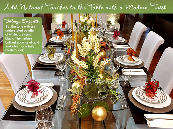 Organic materials for Christmas table decorations