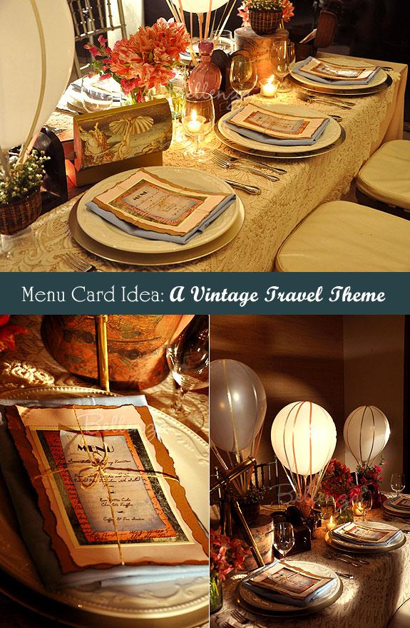 Make DIY Menu Cards for a Vintage Wedding Table