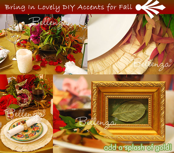 fall wedding palette decorations