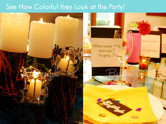 Candle holders as table decorations and centerpieces