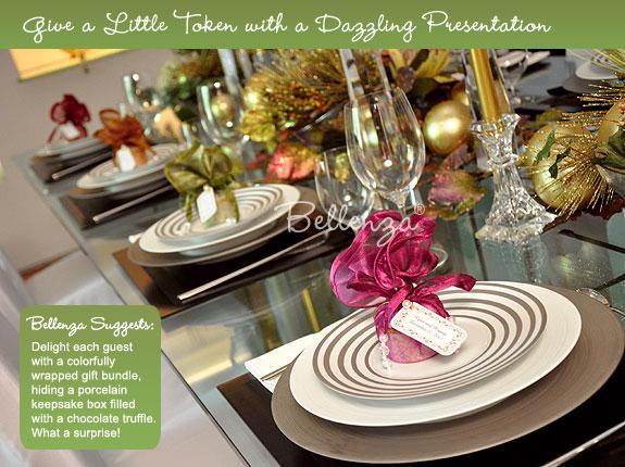 Christmas table favors