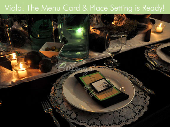 Halloween table setting for wedding