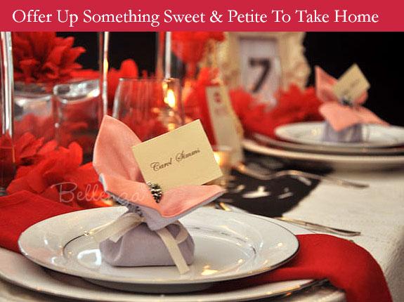Sachet favors for Valentine's