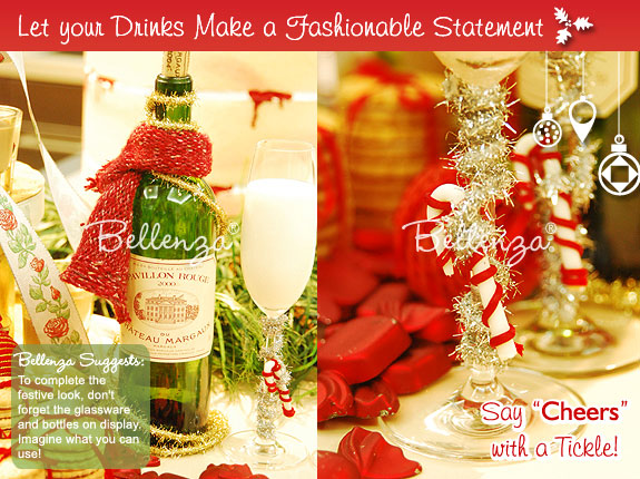 Ideas on how decorate holiday drinks