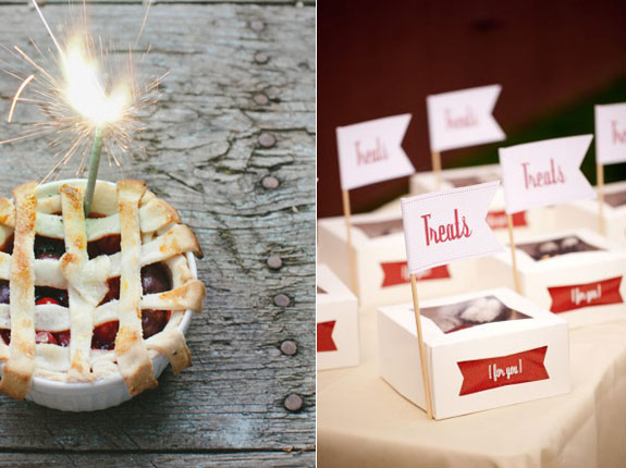 Favor pies for guests