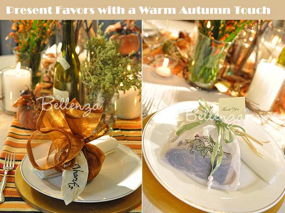 Autumn favor ideas