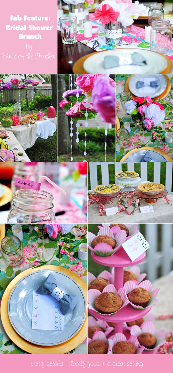backyard garden bridal shower decorations and food