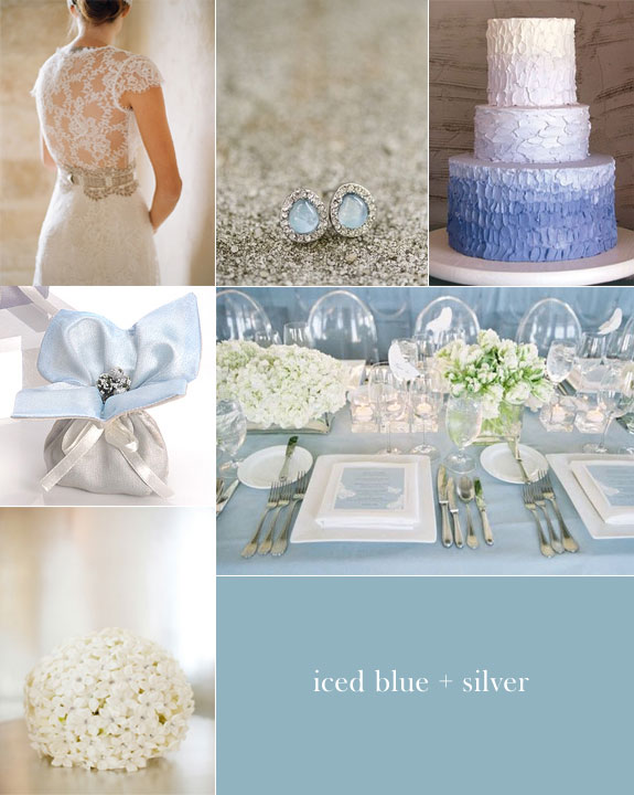 Iced blue with silver inspiration board