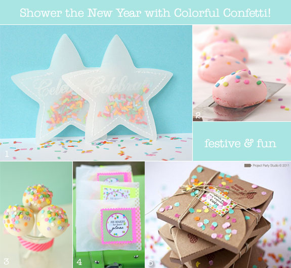 Confetti favors from toss packets to cake pops