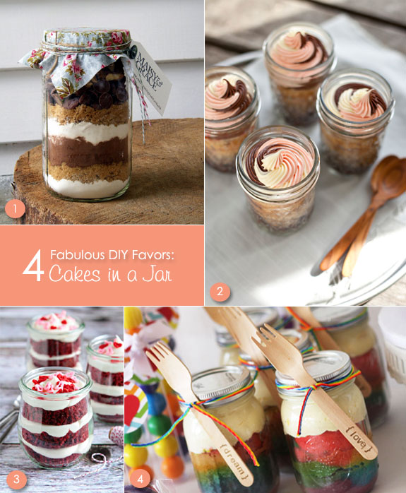 Cake Jar Favors That Are Made At Home Creative And Fun Wedding Ideas Made Simple