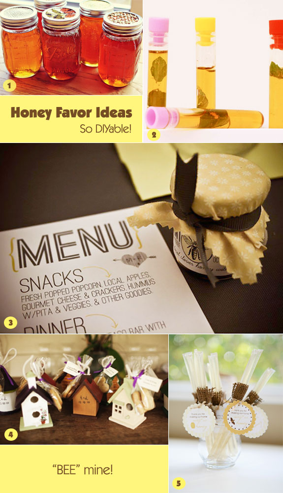Honey favor ideas that are diy