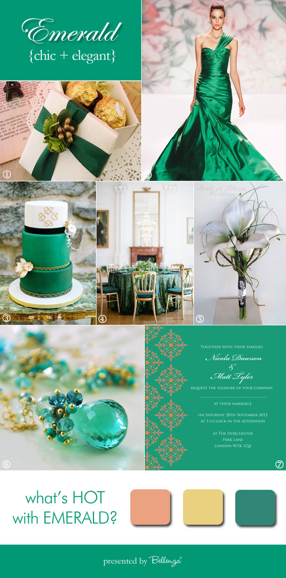 Emerald inspiration board from Bellenza