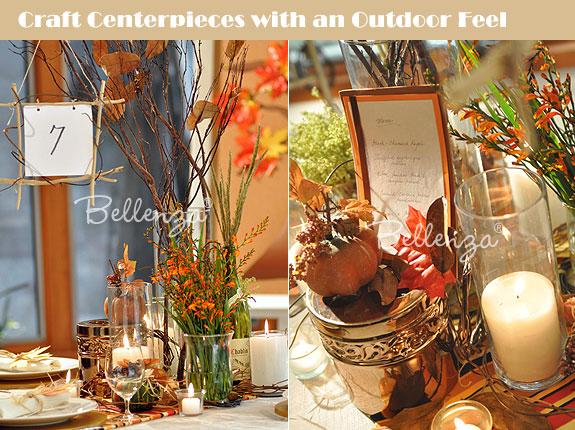 Easy fall wedding centerpiece