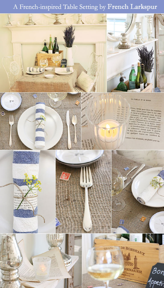 French details of table setting