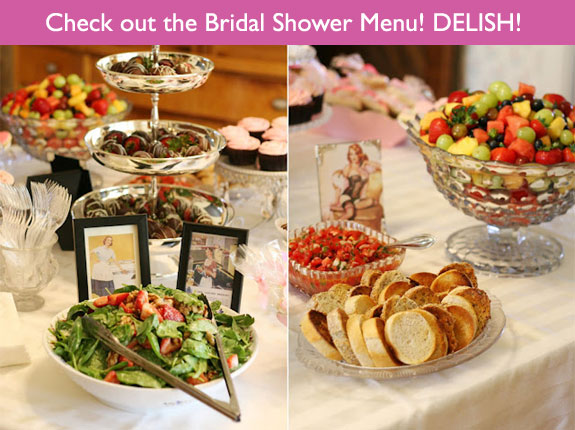 Bridal shower menu ideas