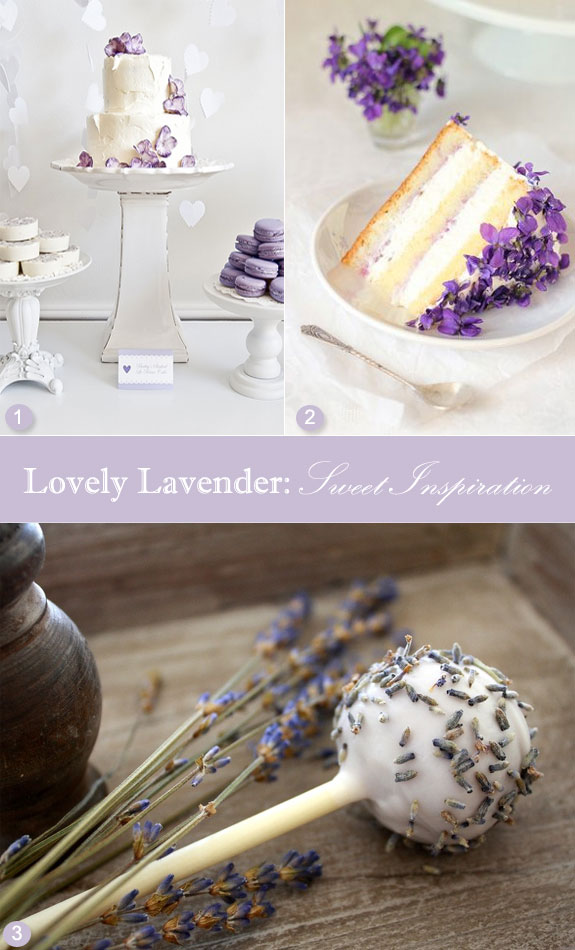 Lavender cake pops, lavender wedding cake, lilac sweets