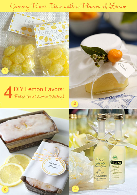 Favor ideas with a flavor of lemon
