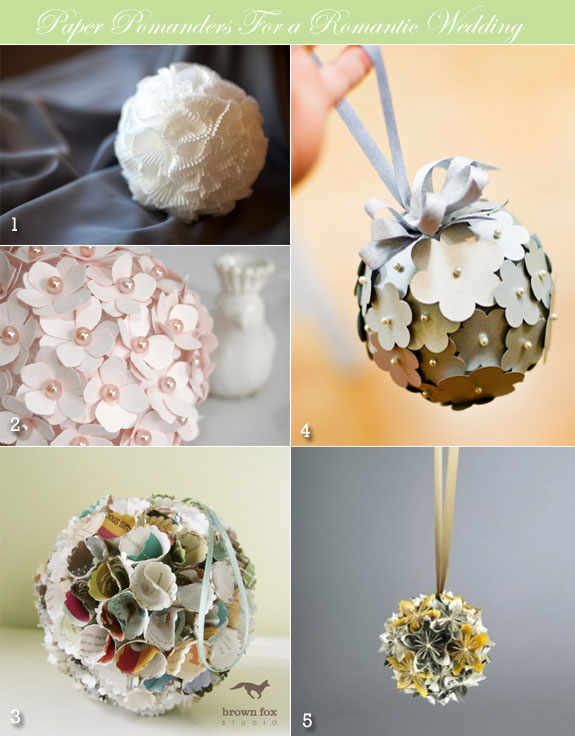Paper pomander examples