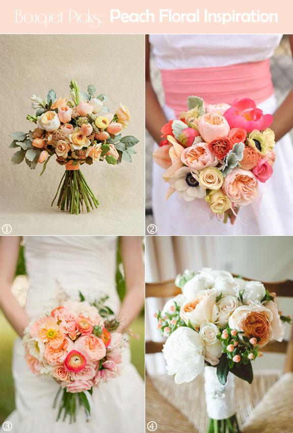 Peach roses, tuberose, ranunculus, poppies