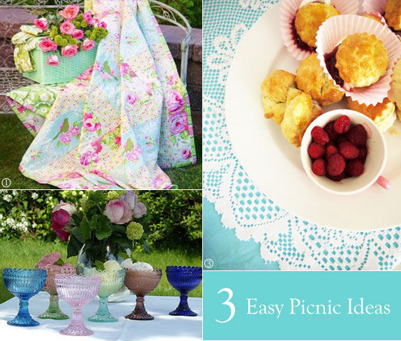 Picnic blankets, scones, and glass goblets