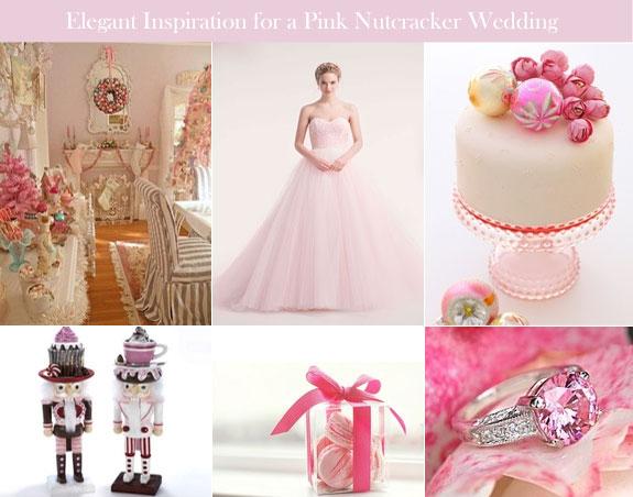 Pink Christmas wedding for Nutcracker theme