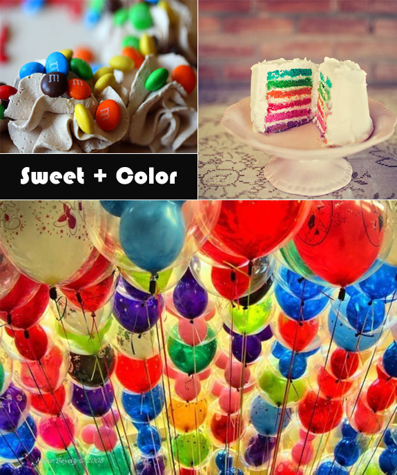 Colorful balloons as decorations