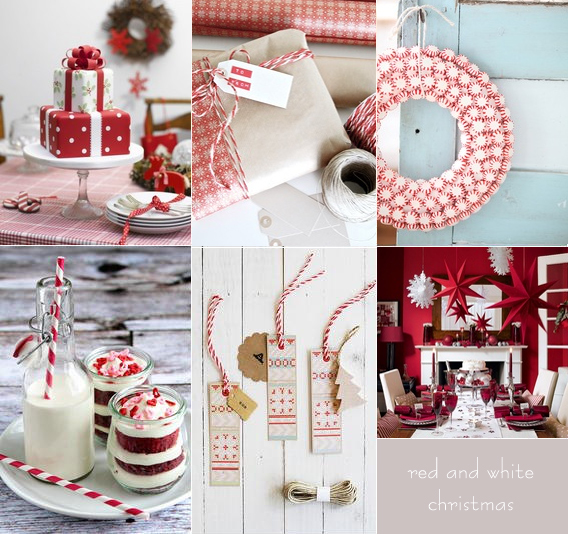 Red and white Bridal Shower Decorations