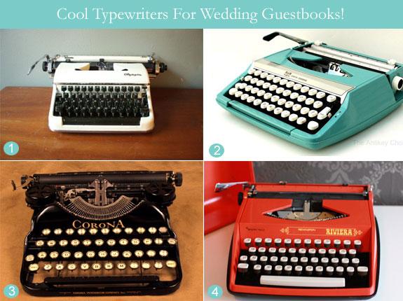 Alternative guestbook typewriter vintage and retro