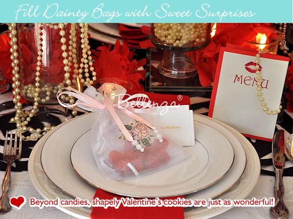 Organza pouches with candies