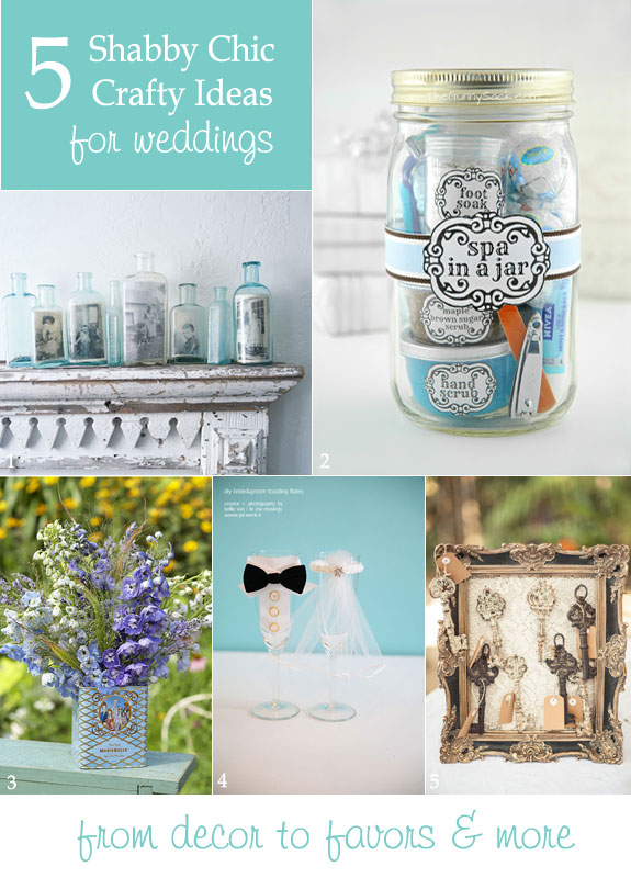 Shabby chic and vintage diy wedding ideas