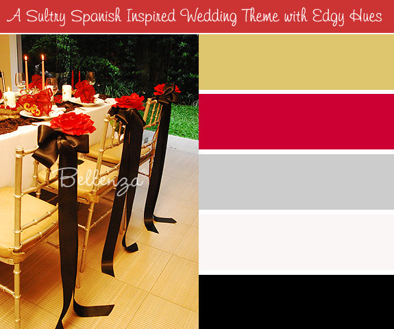 Black and red themed table