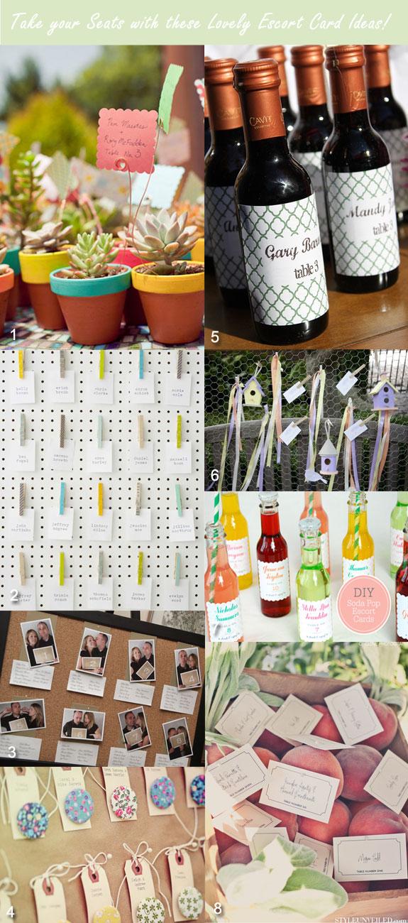 Escort ideas for Spring weddings
