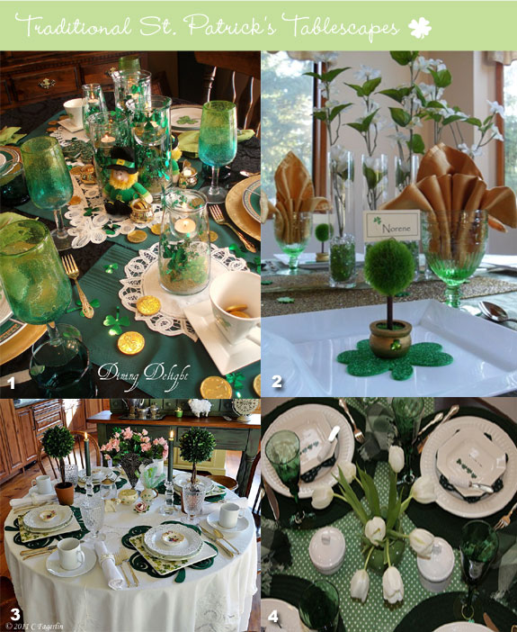 Gorgeous St. Patrick's Day Tablescapes For A Wedding Party