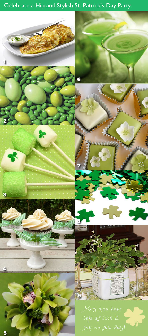 St. Patrick's Day wedding party