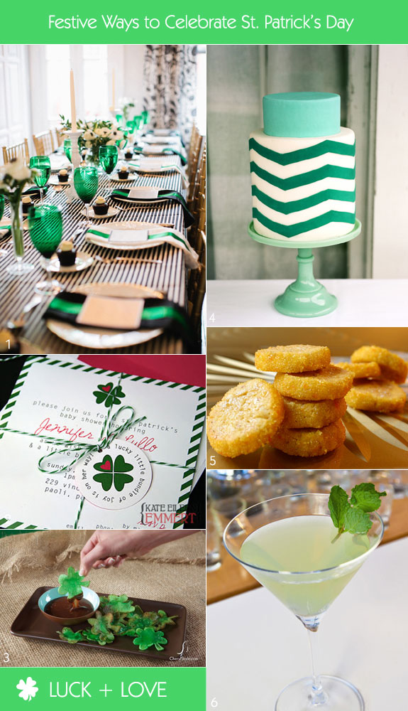 St. Patrick's day bridal shower inspiration board of ideas