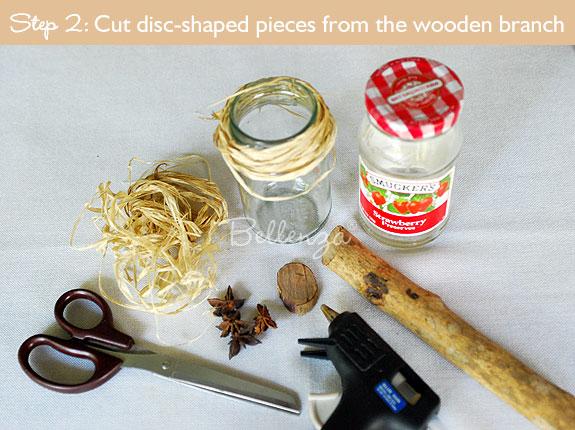 Cut the wooden discs