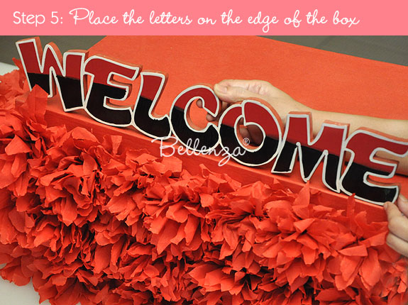 Welcome letters on box