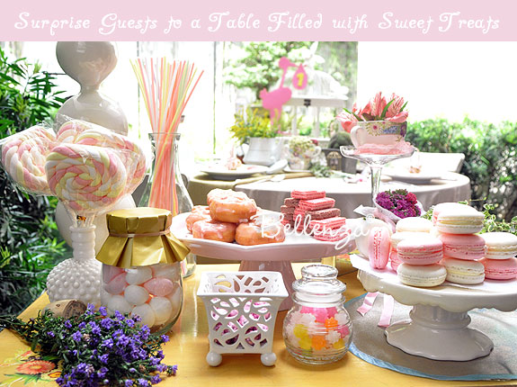 Sweets table for a bridal shower