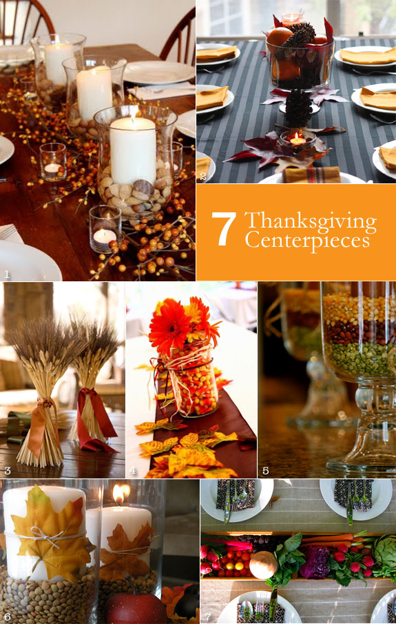 Thanksgiving centerpieces using oranges, wheat, vegetables, and fruits