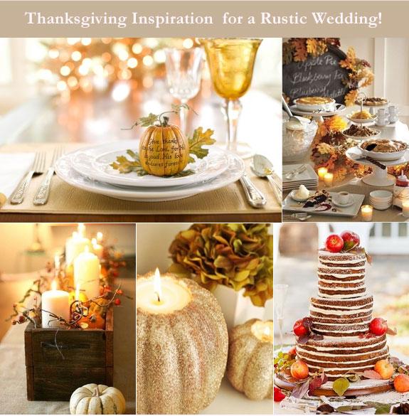 Thanksgiving rustic wedding inspiration board