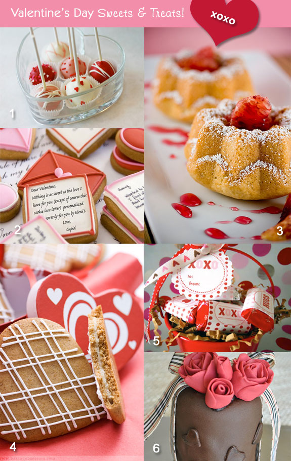 Valentine's cookies and cakes