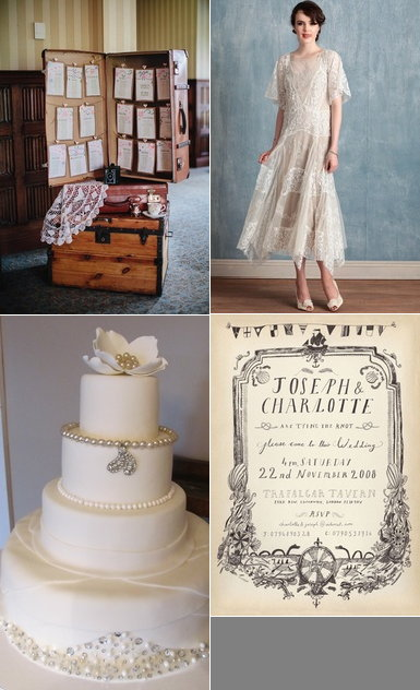 Vintage travel themed wedding inspiration